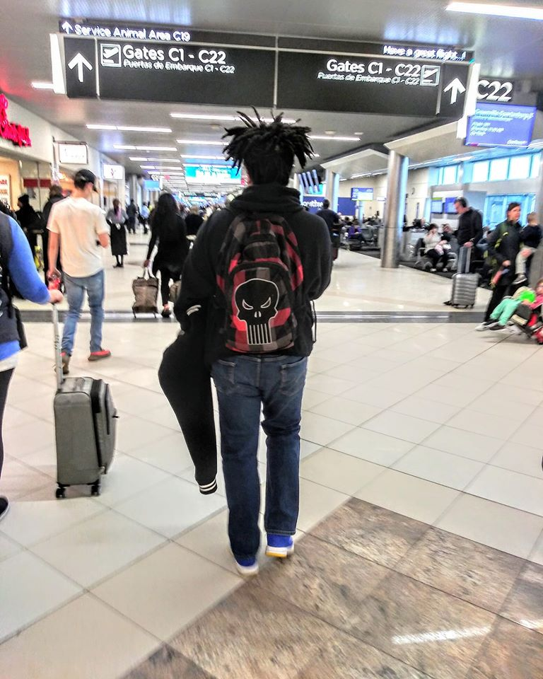 Airports are becoming a familiar space for this teen artist and entrepreneur.
