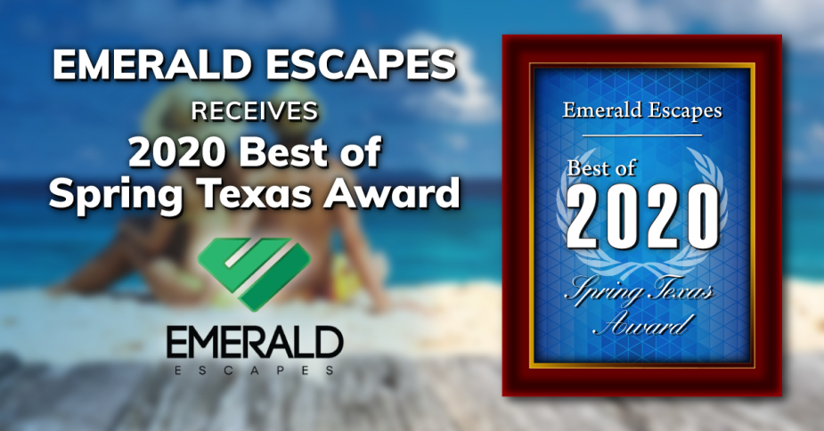 Emerald Escapes Receives 2020 Best Of Spring TX